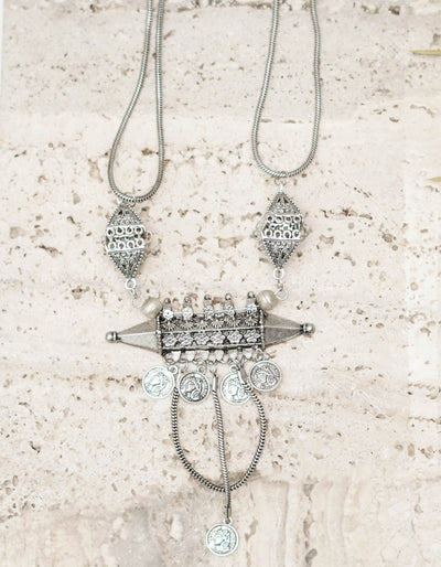 SAARAH NECK PIECE (Silver)