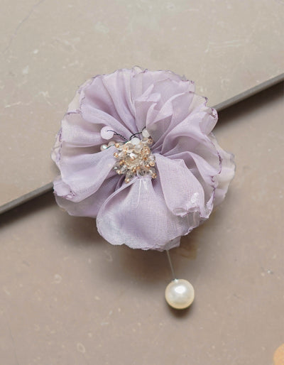FLORENCE BROOCH (Grey)