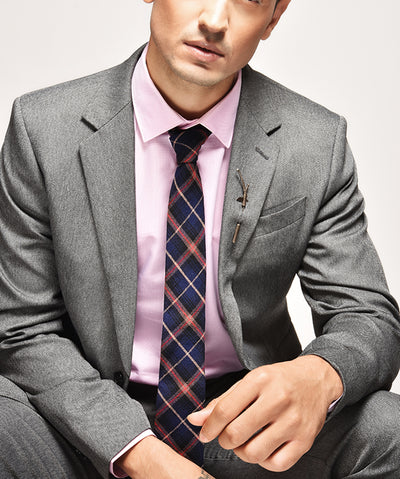 ESQUE' BLUE & RED CHECK NECK TIE