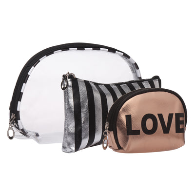 Rose gold love- multipurpose utility pouch set of 3
