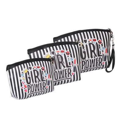 Girl power - multipurpose utility pouch set of 3