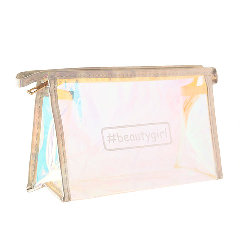 #beautygirl holographic blue-multipurpose  makeup pouch