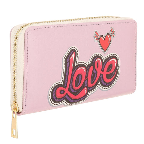 Love print Zipper Wallet/clutch