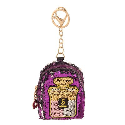 Purple Perfume-Bling lipstick /mini coin pouch