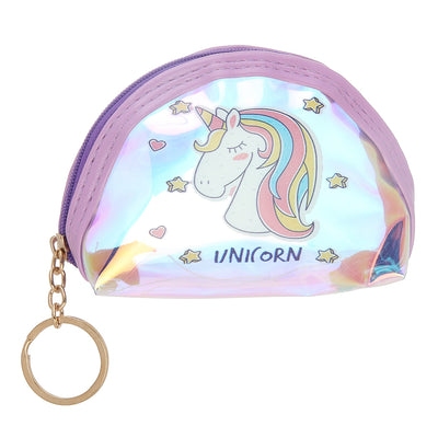 Purple Unicorn-Rainbow Shimmer lipstick /mini coin pouch