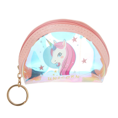 Pink Unicorn-Rainbow Shimmer lipstick /mini coin pouch