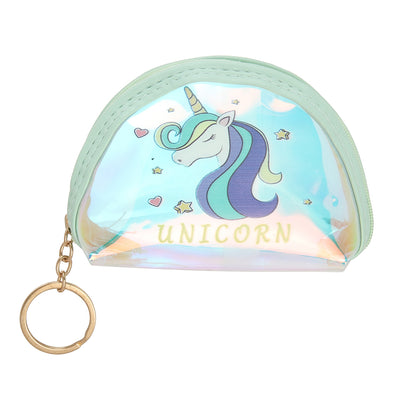 Green Unicorn-Rainbow Shimmer lipstick /mini coin pouch