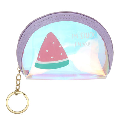 Purple Watermelon-Rainbow Shimmer lipstick /mini coin pouch