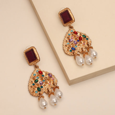 Rainbow Statement Earrings