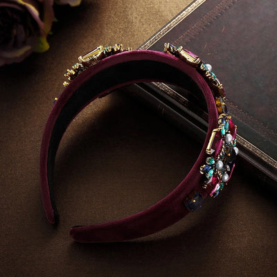WINE EMBELLISHED HAIRBAND