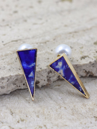 ALICE STUD EARRINGS (BLUE)