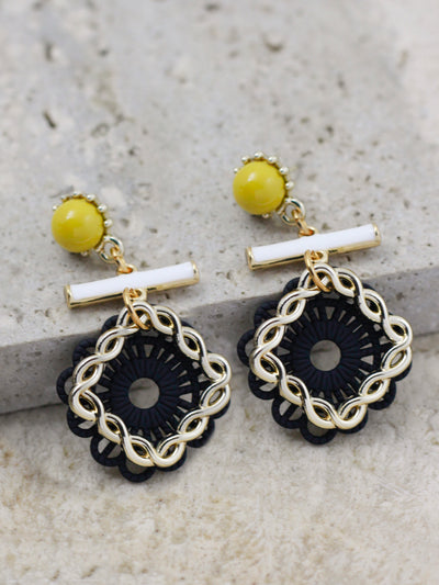 GRACE DROP EARRINGS (Black)