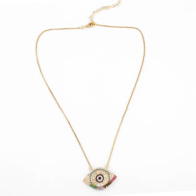 Evil eye pendant gold
