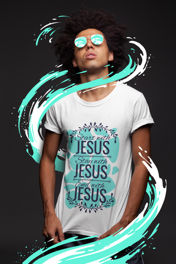 Start With Jesus Classic Heavy Cotton Adult T-Shirt - Big Badda Boom