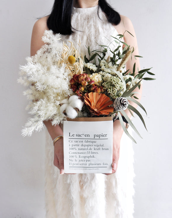 The Enchanted Garden Bouquet in Paperbag