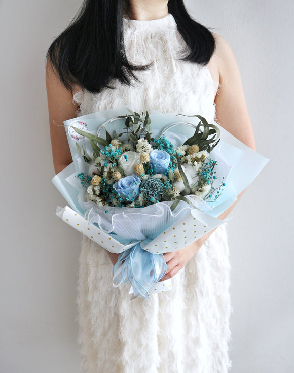Elegantly Blue Bouquet