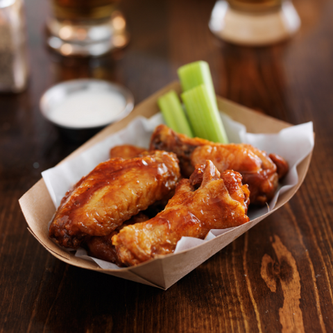Buffalo wings go best with beer