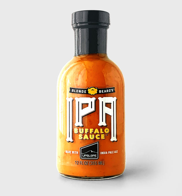 Blonde Beard's IPA Buffalo Sauce. Made with Upslope India Pale Ale.