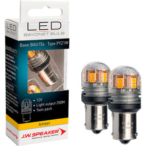 J.W. Speaker LED Bayonet bulb Base BAU15S Type PY21W