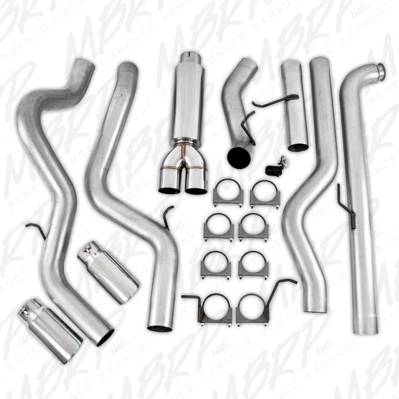 Mbrp 4 Dual Installer Series Downpipe Back Exhaust System S6006al
