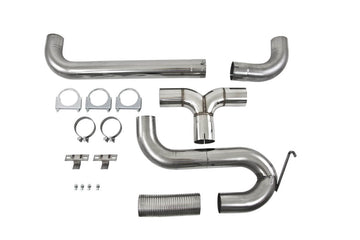 "MBRP 4"" XP Series Filter-Back Dual Exhaust Stack System S8010409"