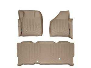 WeatherTech Tan Floor Liner Set For 08-10 Ford (Extended Cab) w/o 4X4 Shifter