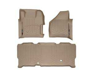 WeatherTech Tan Floor Liner Set For 08-10 Ford (Extended Cab) w/ 4X4 Shifter