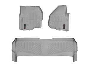 WeatherTech Grey Front Liner Set For 12-15 Ford (Crew Cab) W/ 4X4 Shifter