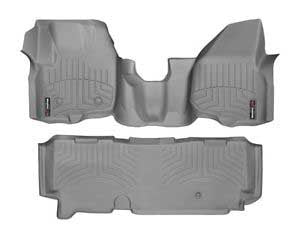 WeatherTech Grey liner Set For 12-15 Ford (Extended Cab) W/o 4X4 Shifter