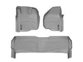 WeatherTech Grey Floor Liner Set For 11-12 Ford (Crew Cab) w/o 4X4 Shifter