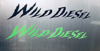 Wild Diesel Small Sticker
