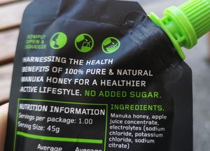 Just 5x Natural Ingredients in our LiquidFuel Sports Gels