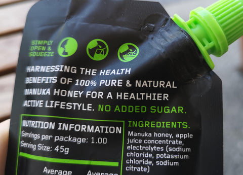natural sports energy gel manuka performance