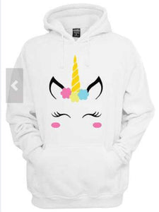 Nifty Unicorn Printed Kangaroo Pocket Hoodie