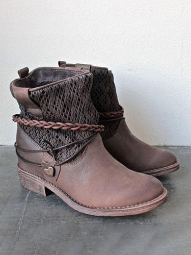 Spliced Mid Calf Boots