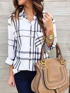 Long Sleeve Plaid Fashion Shirt