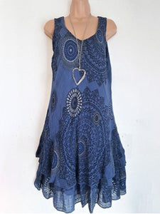 Round Neck  Bohemian Camisole Dress