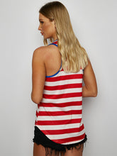 Load image into Gallery viewer, Striped Print Stitching Vest T-Shirt