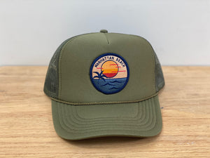 Adult ||| Trucker Hat ||| Manhattan Beach Sunset - Local Stripes