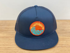 Adult ||| Flat Bill Trucker Hat ||| Manhattan Beach