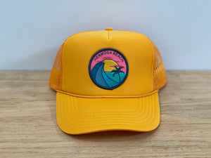 Adult ||| Trucker Hat ||| Hermosa Beach Teal Wave - Local Stripes