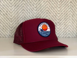 Adult ||| Trucker Hat ||| Hermosa Beach Sunset - Local Stripes