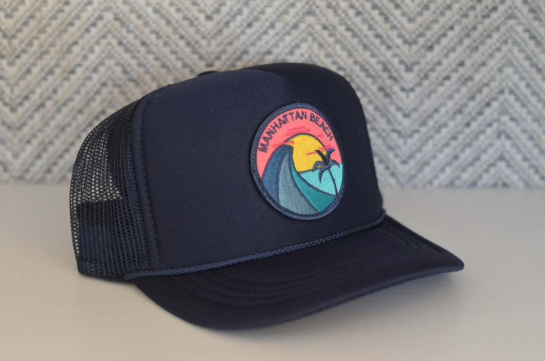 Youth Trucker Hat - Teal Wave