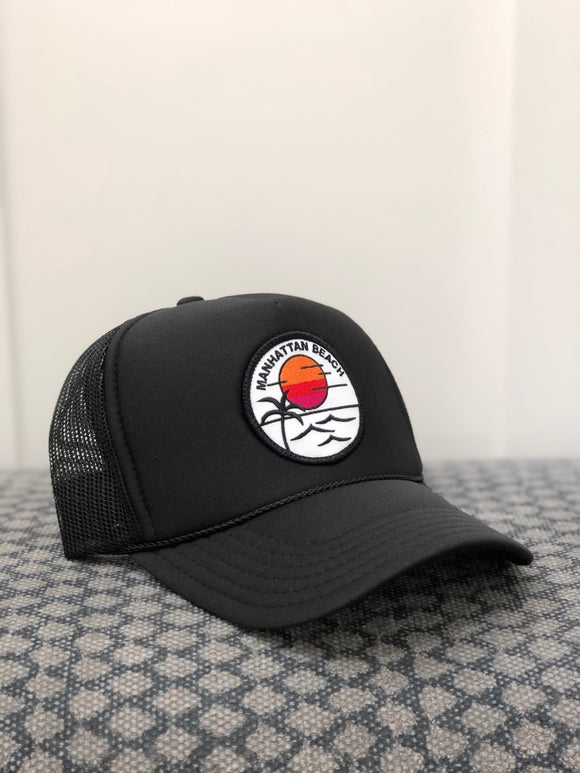 Adult ||| Trucker Hat ||| Rainbow Sun - Local Stripes