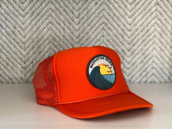 Youth ||| Trucker Hat ||| Manhattan Beach Three Birds - Local Stripes