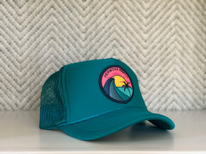 Youth ||| Trucker Hat ||| Hermosa Beach Teal Wave - Local Stripes