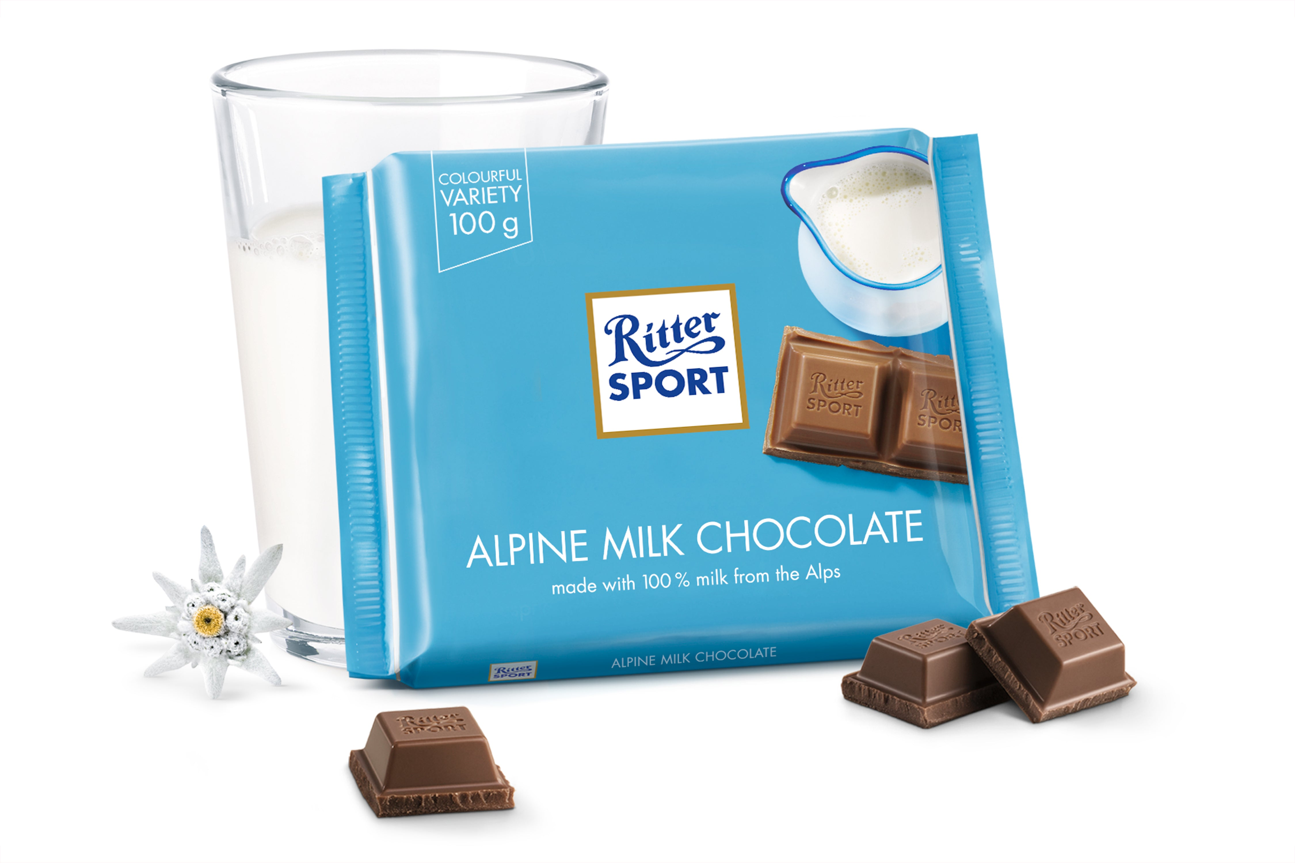 Ritter Alpine Milk Chocolate 100g