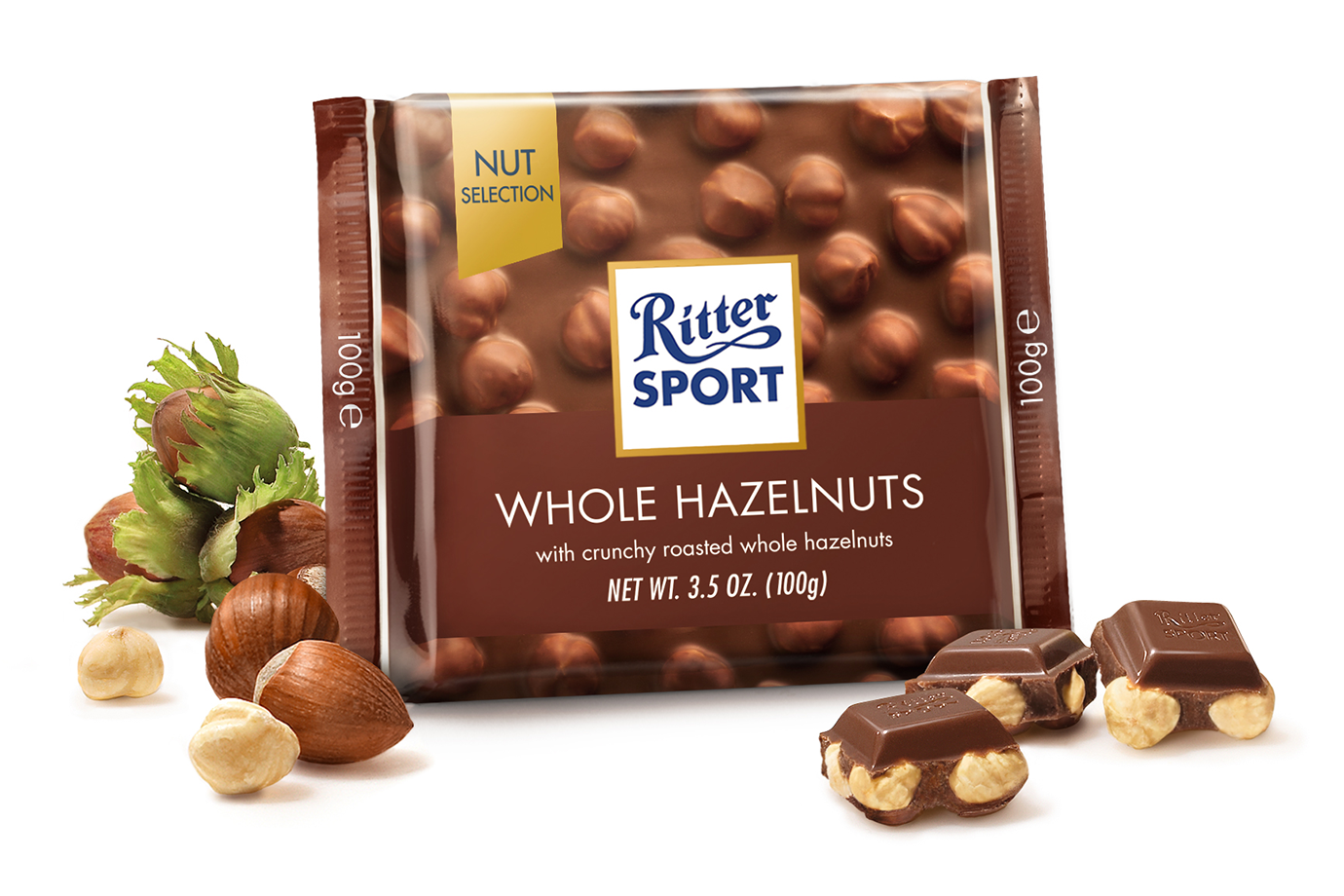 Ritter Whole Milk Hazelnut Chocolate 100gr