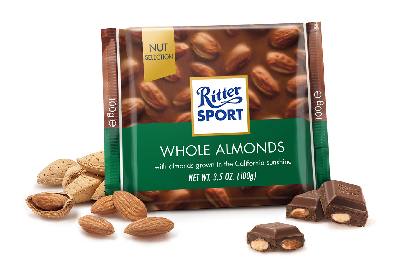 Ritter Whole Almond Chocolate 100g