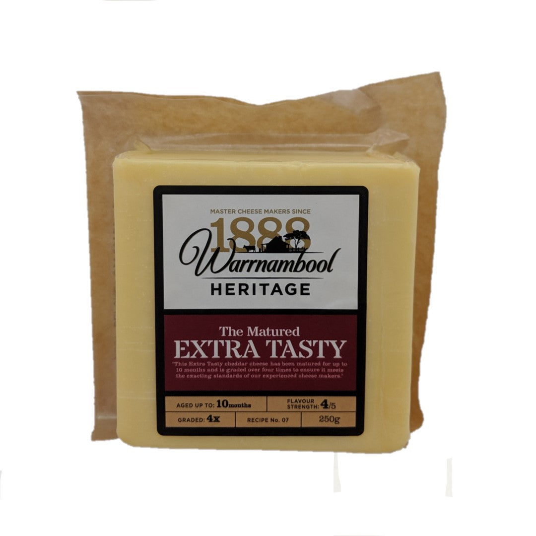 Warrnambool Heritage Extra Tasty Cheese 250gr
